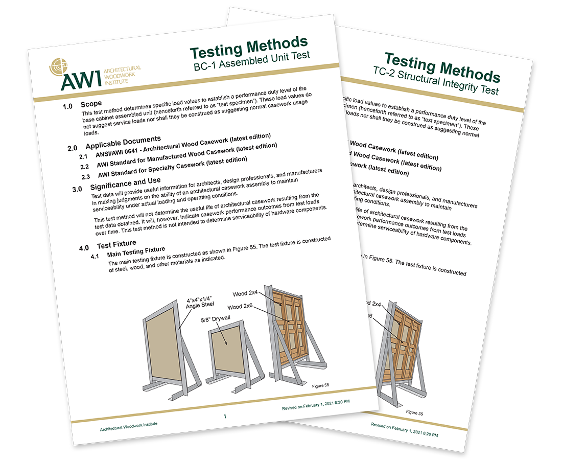 architectural woodwork institute testing covers